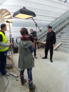 spoortunnel film opnames in Zwolle
