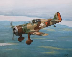 Fokker G-I. De 216 gevlogen door Guus Kiel in mei 1940.